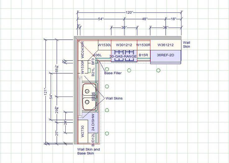 Average Cost Of New Kitchen Cabinets Cabinet Shelf Inserts 10 X 12 Layout | Standard ...