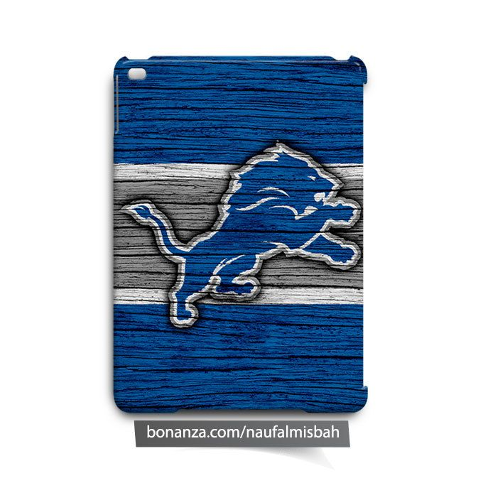 Detroit Lions on Wood iPad Air Mini 2 3 4 Case Cover