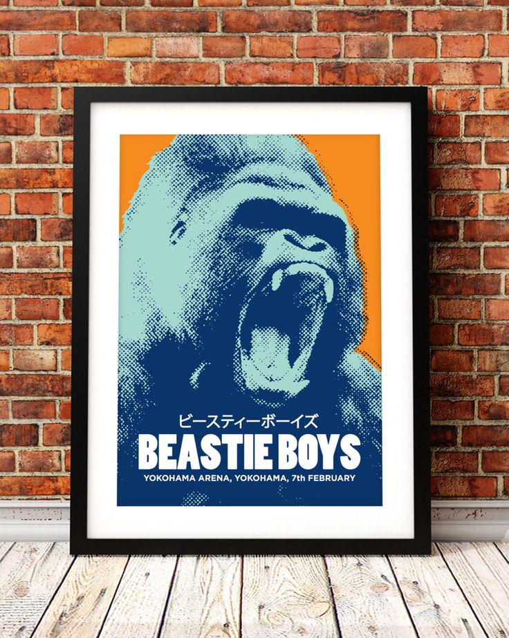 Beastie Boys concert poster, gig poster art, music inspired print, Beastie Boys poster, Yokohama, concert poster, concert art print by TheIndoorType on Etsy https://www.etsy.com/listing/207966073/beastie-boys-concert-poster-gig-poster