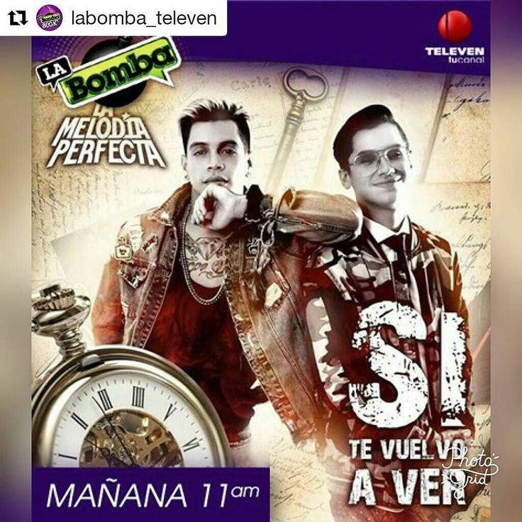 #Repost @labomba_televen (@get_repost)  IMPERDIBLE! Mañana nuestro programa se llena de orgullo en recibir a este dúo @melodiaperfect que esta liderizando las carteleras radiales. En Exclusiva! Para Tv Nacional estarán interpretando su nuevo sencillo #SiTeVuelvoAVer...Así que desde ya escribe con la etiqueta #LaMelodiaEnLaBomba No te lo puedes perder! #LaBombaEnTodo #Bomba2017 #Farandula #Musica #Tv #TvShow #TvHost #Entretenimiento #Magazine #Igers #Televen #Venezuela