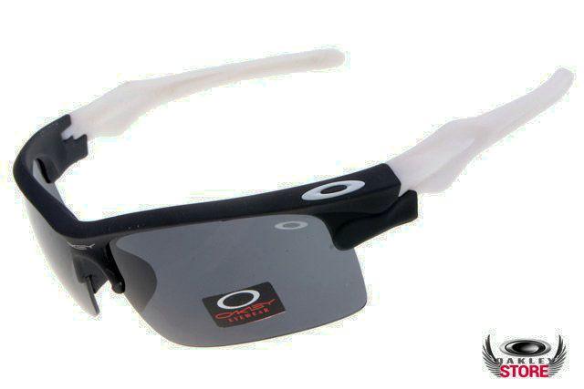 Replica Oakley Fast Jacket sunglasses white / black for Sale