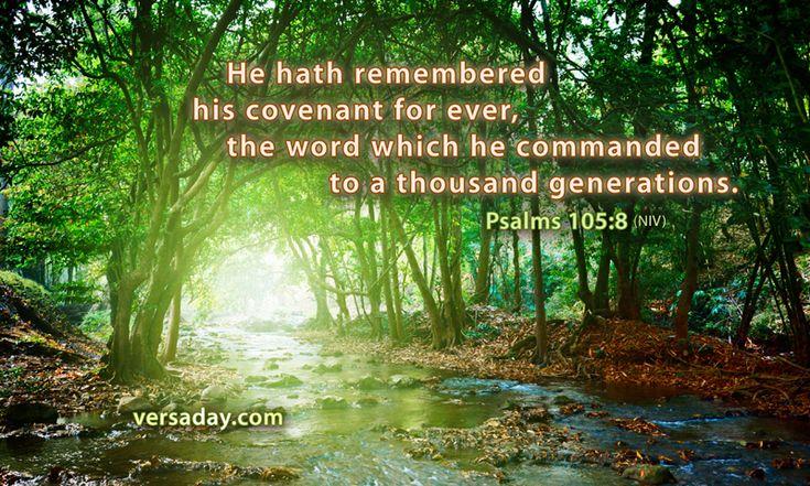 Psalms 105:8 - Verse for November 2