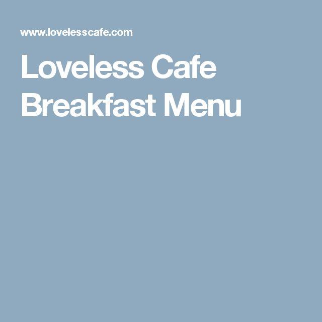 Loveless Cafe Breakfast Menu
