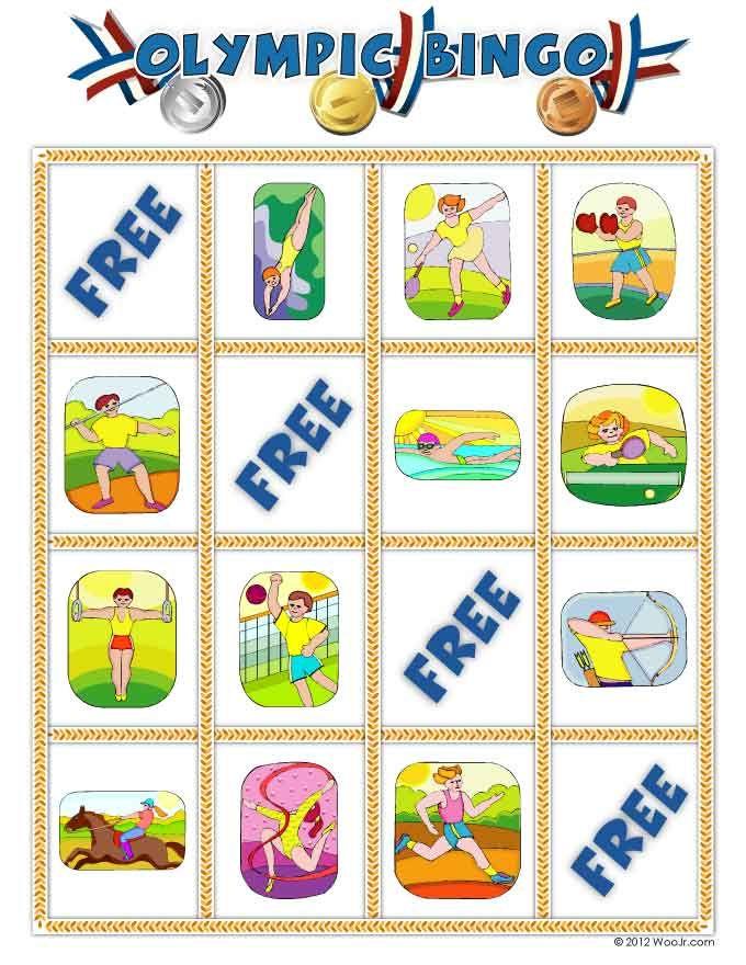 Printable Summer Olympics Bingo
