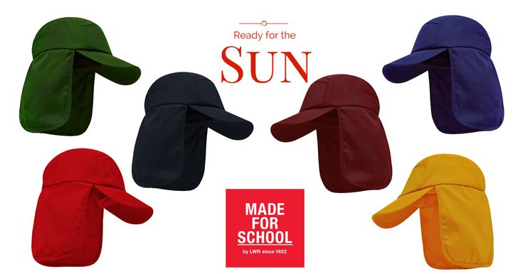 Hats for school -Fantastic sun protection without chewed and sloppy cords, now that's winning!
