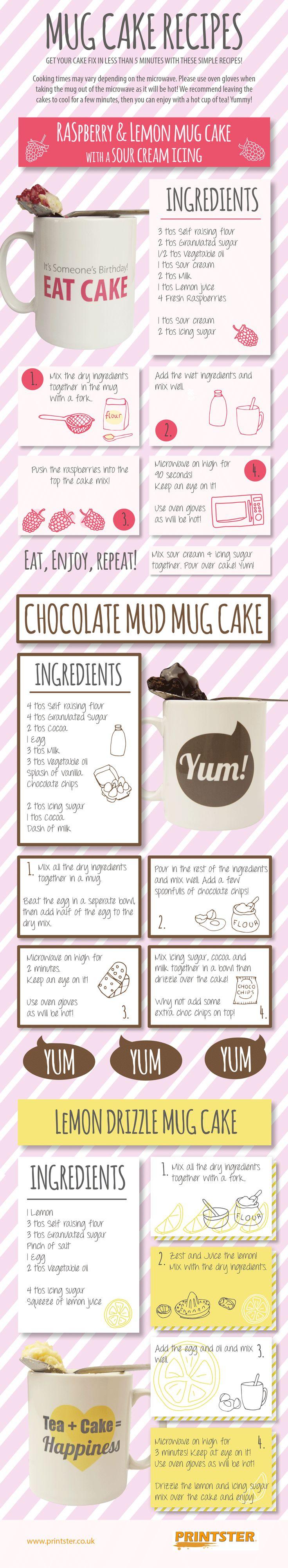 Infographic: Mug Cake Recipes #infographic