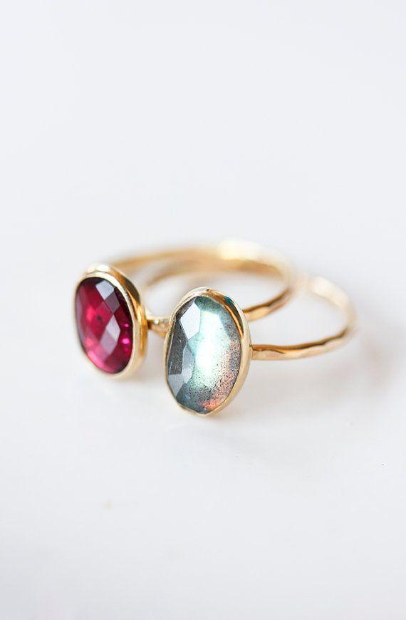Gold & Gemstone Rings   Belinda Saville on Etsy
