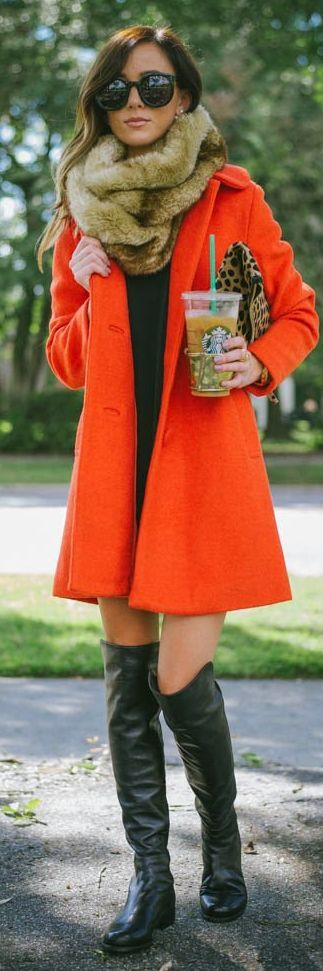 Red Swing Dolly Coat by Sequins & Things