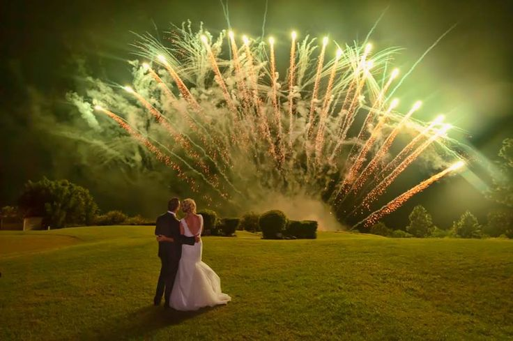 Spectacular fireworks display at Summergrove Estate by Mr. Fireworks!    Kristie & Adrian's wedding 14.02.15