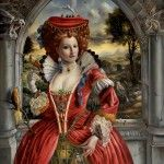 The Birdkeeper in the Red Dress, 24 x 18, 0il on panel  SOLD