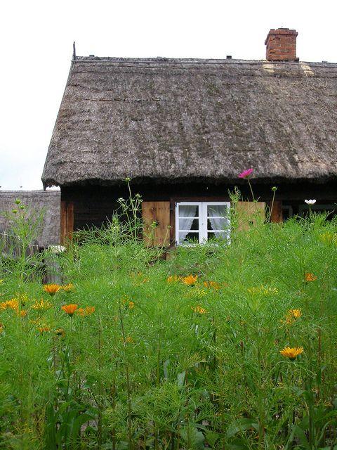 Mennonite house from the 1870s, Wdzydze Kiszewskie, Poland