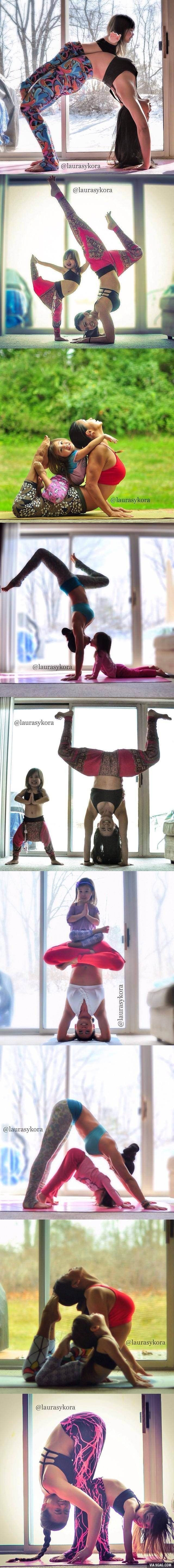 Absolutely adorable way to spread yoga to the youngins!