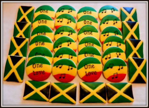 Reggae Themed Cookies