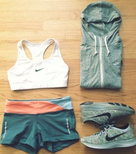 New Women's Workout Gear | Fitness apparel | women's gym clothes | Nike Sports bra - sweatshirts, running shoes & Workout shorts - http://www.FitnessApparelExpress.com