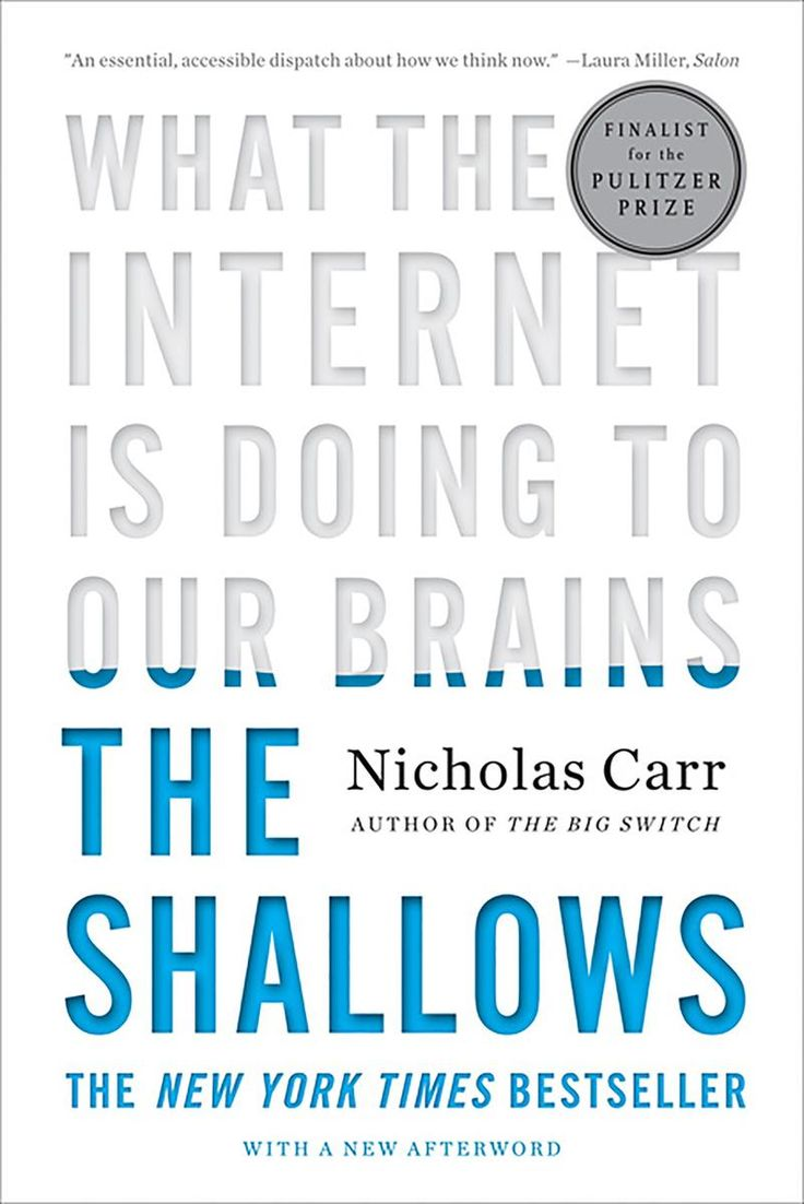 The Shallows: What the Internet Is Doing to Our Brains by Nicholas Carr // W. W. Norton & Company (June 6, 2011)  #cyberbooks