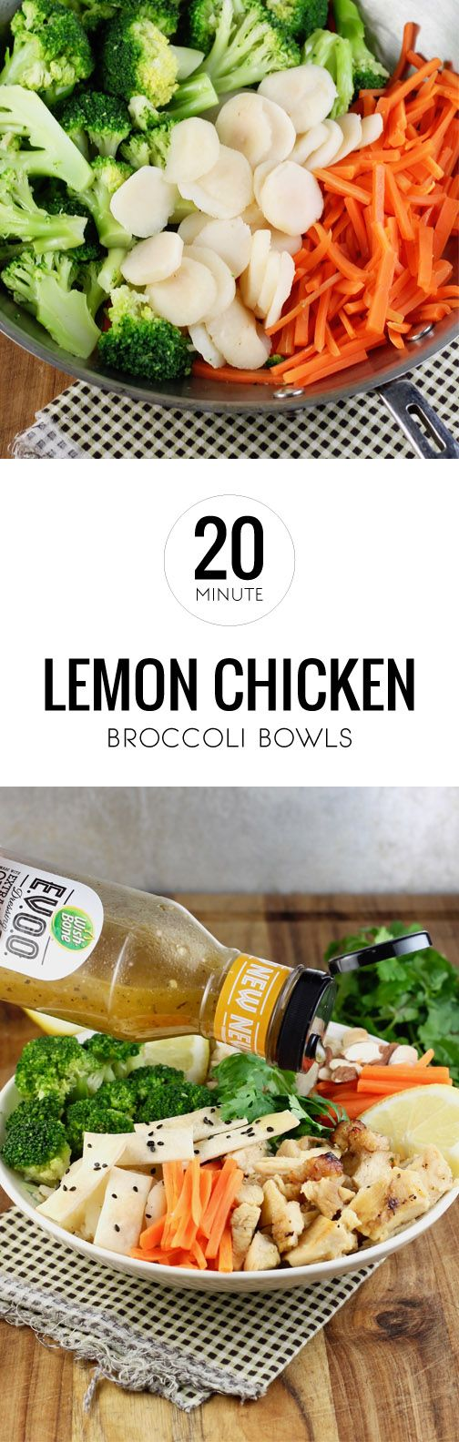 Bursting with flavor, this recipe for 20 Minute Lemon Chicken Broccoli Bowls makes it easy to serve fresh ingredients on your dinner table. Using steamed carrots, water chestnuts, almonds, Tyson Oven Roasted Diced Chicken Breasts, homemade tortilla strips—using TortillaLand Flour Tortillas, and Wish-Bone EVOO Lemon and Herb Dressing, everything about this dish will have your family smiling. You can find all the ingredients you need at Kroger!