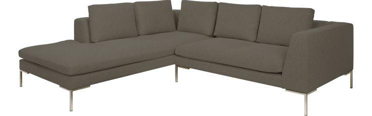 Montino 2-Sitzer-Sofa aus Stoff, Chaiselongue links (www.habitat.fr)