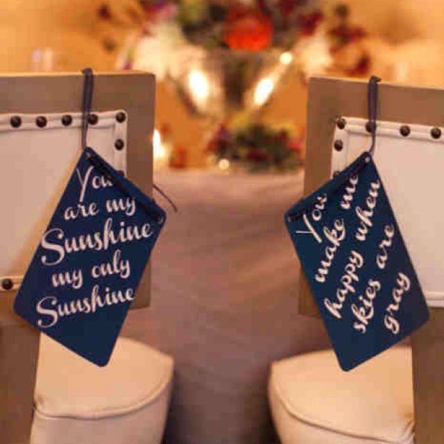 bride & groom chairs ties