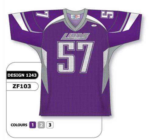 Sublimated Football Jersey Design 1243 Can Be Made In Any Color Combination Lettering