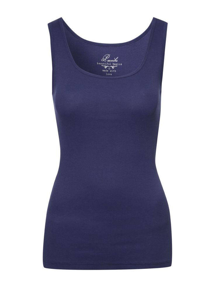 Womens Rib Vest Top | Peacocks