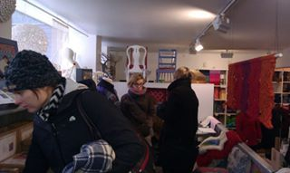 Extended co-operation: Group of students from the Culture Academy of Tartu University visiting craft venues in Finland.
