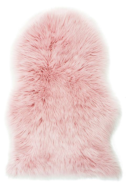 Faux Fur Pink Fluffy Rug