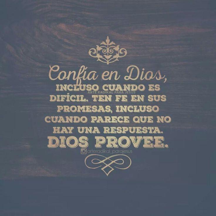 """""""Señor, yo pongo en Ti mi confianza, pues Tú eres mi fortaleza. ¡Tú, Dios mío!, eres mi protector Confio en Dios"""