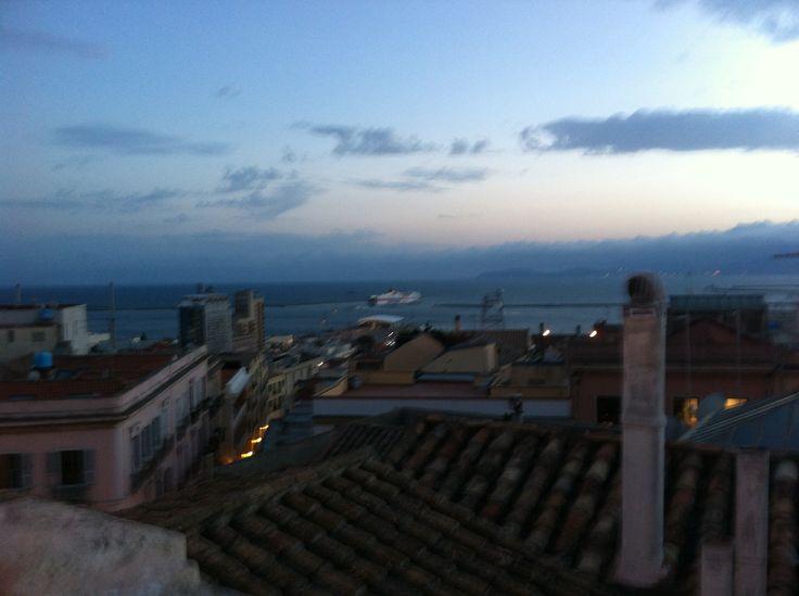 Panorama di Cagliari dall'alto.