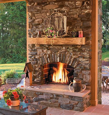 homey ideas fireplace designs. Rustic stone outdoor fireplace with wood mantle 23 best Outdoor Fireplaces images on Pinterest  rooms