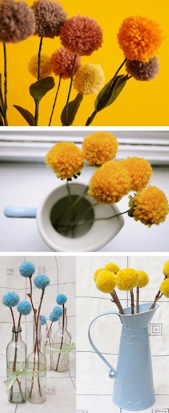 Pompom fleur