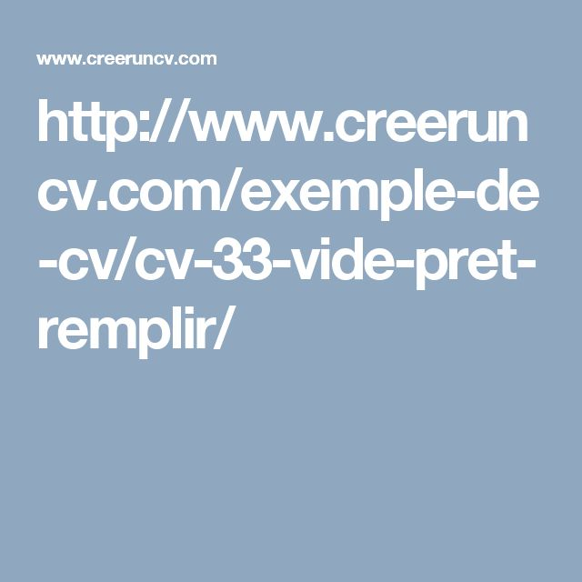 1000  ideas about exemple cv on pinterest