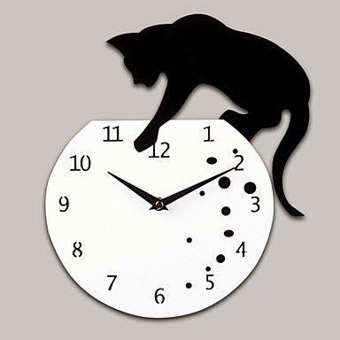 Reloj Gato Pecera | Relojes de Pared