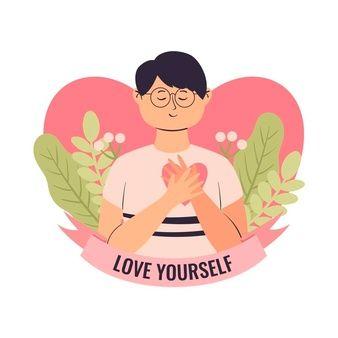 Self Concept, Web Design Inspiration, Art Therapy, Self Care, Wallpaper, Vector Free, Illustration Art, Character Design, Selfie