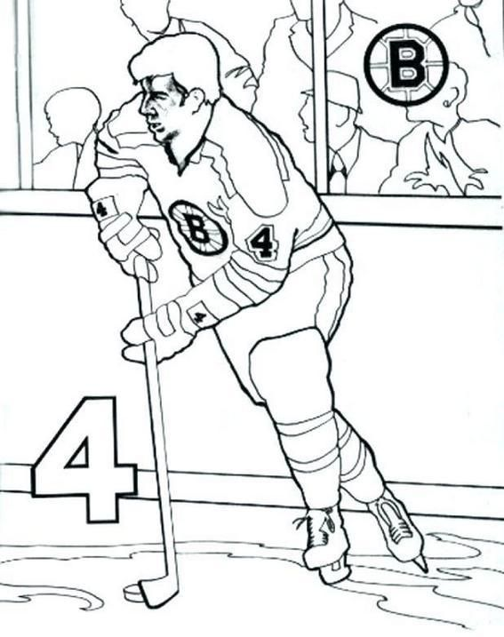 Hockey Player Team Bruins Coloring Pages Sports Coloring Pages Coloring Pages Bear Coloring Pages
