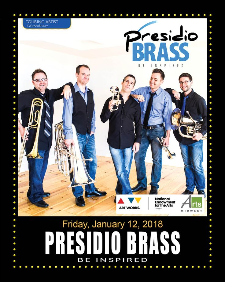 Since forming in 2006, Presidio Brass has rocketed to success as the face of a bold new generation in brass entertainment. By combining a brass quintet, piano and percussion instruments with fresh, original arrangements, their unique sound has become a trademark for the ensemble from San Diego, CA, captivating audiences the world over. #PresidioBrass #MarionPalace