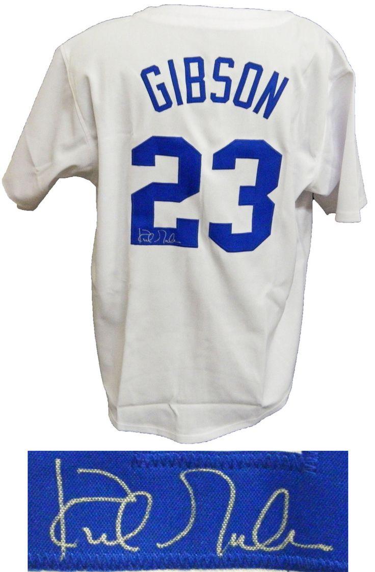 Kirk Gibson LA Dodgers Signed White Custom Baseball Jersey - Schwartz COA.  White JerseyLos Angeles ...