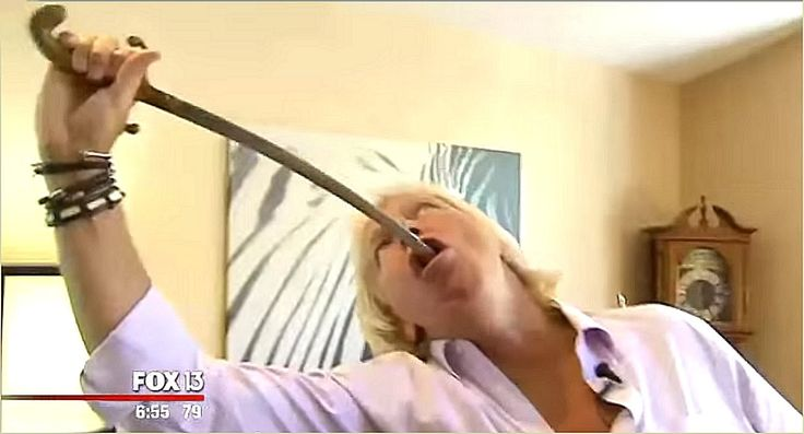 Tampa Man swallows Saw, Razor, Car Axle and Hedge Clippers: https://youtu.be/aC-Q8St_cdg  http://www.cuttingedgeinnertainment.com