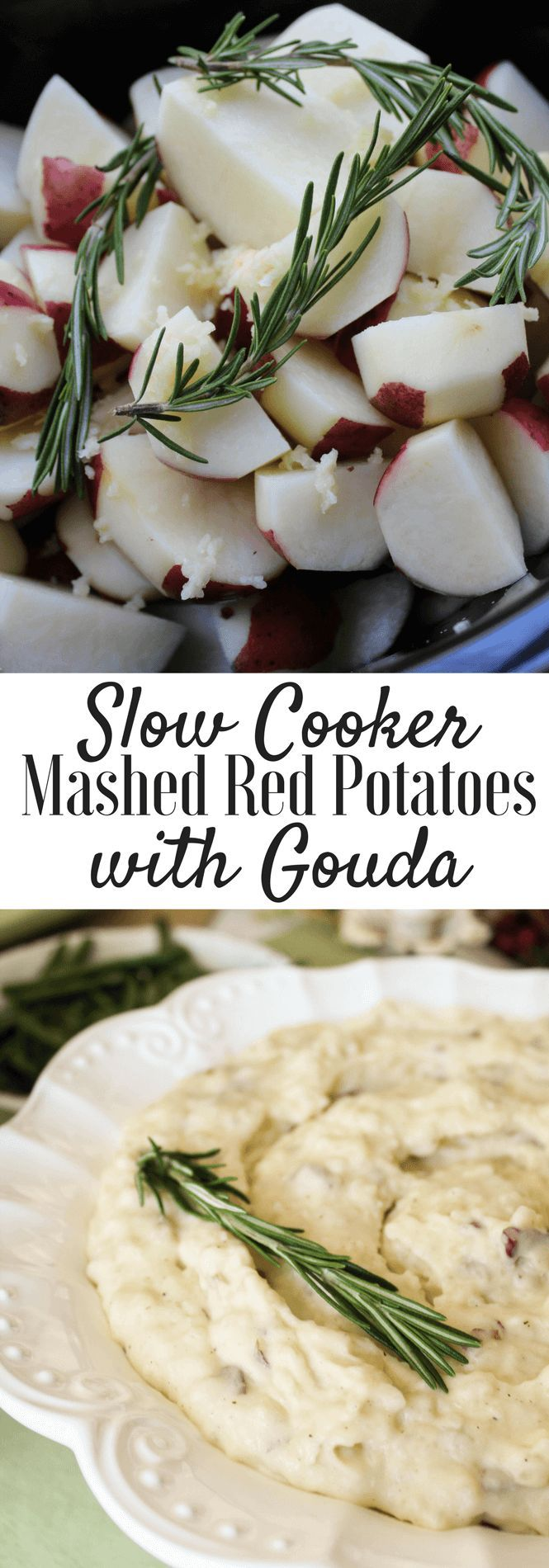 Msg 4 21+ Crockpot Holiday Mashed Red Potatoes with Gouda paired with @woodbridgewines #ad #TurkeyDayTips