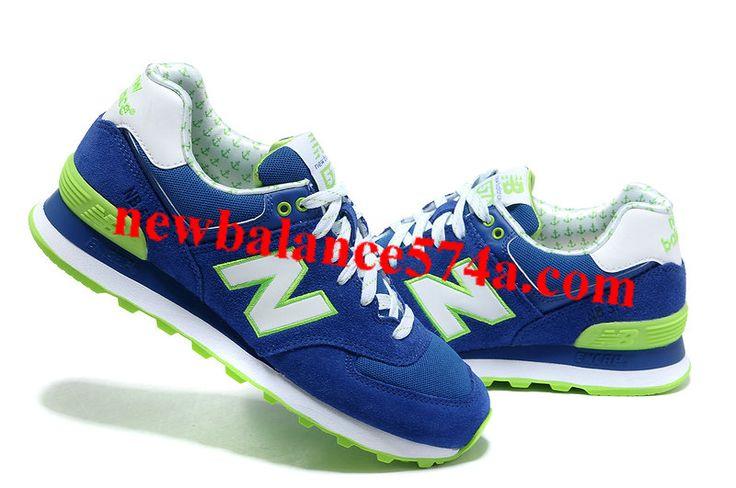 New Balance 574 WL574YDB Blue White Green