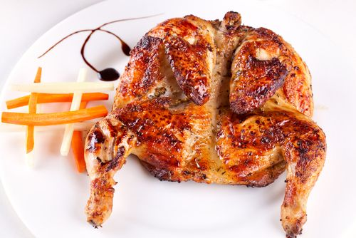 الدجاج المشوي بالفرن بتتبيلة البرتقال للريجيم