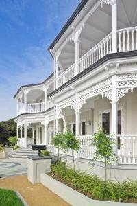 Kawau Island's Mansion House was the original inspiration for many of the ideas for the final look of the residence.
