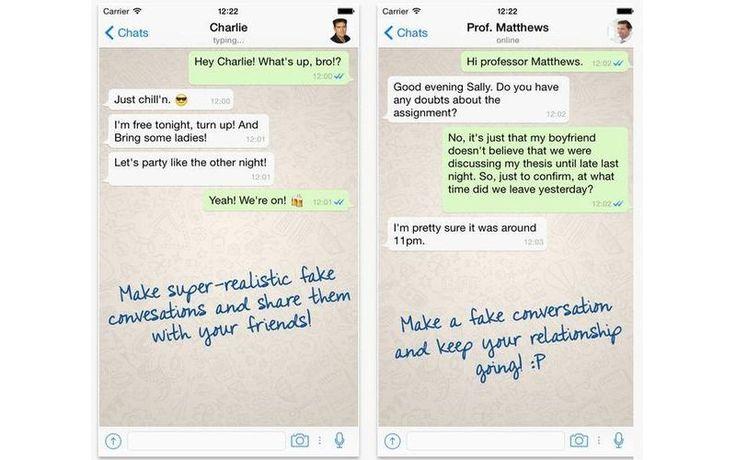 WhatsFake es una app gratuita, para Android e iOS, con la que podemos simular falsas conversaciones en WhatsApp para gastar bromas a nuestros amigos.