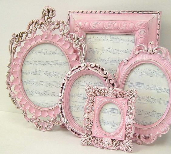 A Set of Pink Photo Frames ....                                                                                                                                                                                 More