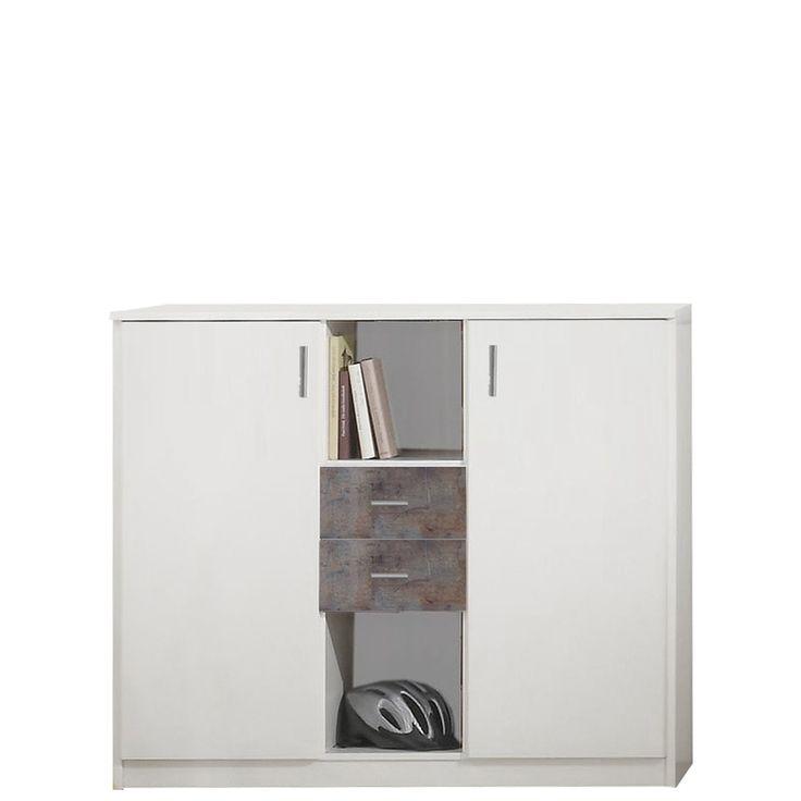 Highboard Kinderzimmer Joker zwei Türen Beton Weiß Jetzt bestellen unter: https://moebel.ladendirekt.de/wohnzimmer/schraenke/highboards/?uid=7658fe29-b9e9-5345-a73a-613f1016806f&utm_source=pinterest&utm_medium=pin&utm_campaign=boards #jugendliege #jugendzimmer #möbel #highboards #schraenke #kinderzimmer #beton #kaufen #online #joker #wohnzimmer