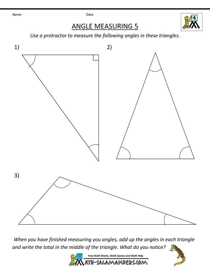 printable math worksheets angle measuring 5 geometry triangles pinterest geometry math. Black Bedroom Furniture Sets. Home Design Ideas