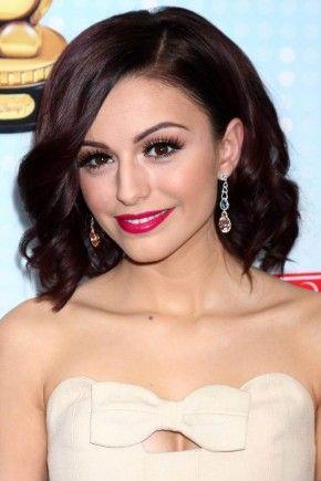 Cher Lloyd plum red hair colors 2015