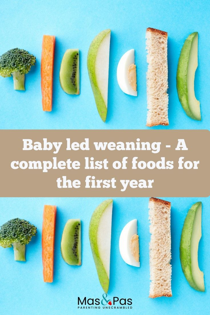 Baby Led Weaning Foods by Age Weaning foods, Baby first