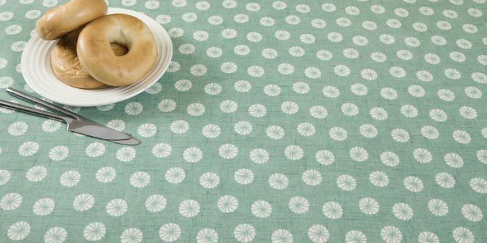 Duck Egg Circles Oilcloth Tablecloth