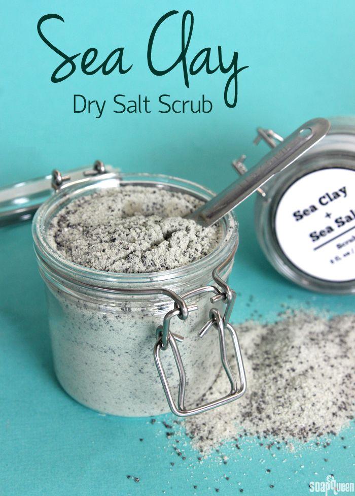 .~Sea Clay Dry Salt Scrub~. @adeleburgess