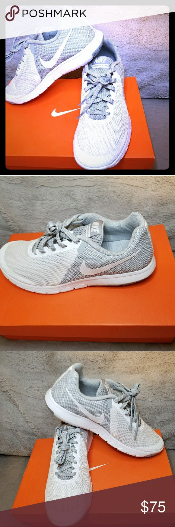 Wmns Nike flex experience rn 5 Brand new never worn white and grey original nike shoes for women size 9 Nike Shoes Athletic Shoes